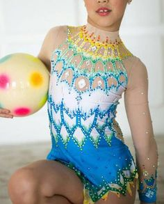 Beautiful designer rhythmic gymnastics leotard handmade,worn a few time for the rhythmic gymnastics. For the rhythmic gymnastics competition.