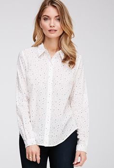 Polka Dot Cotton Shirt | Forever 21 - 2052288208