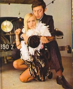 Serge Gainsbourg, France Gall and the most ridiculously phallic music video of 1966 Serge Gainsbourg, Gainsbourg Birkin, French Pop Music, Francoise Hardy, Dangerous Minds, Bonnie N Clyde, Provocateur, Strange Photos, Showgirls