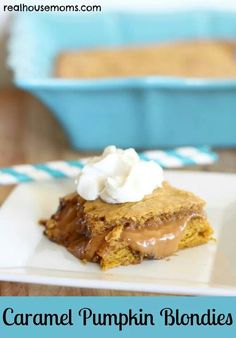 Carmel pumpkin blondies