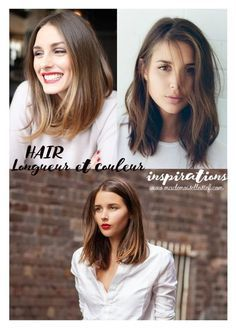 carré long inspiration cheveux