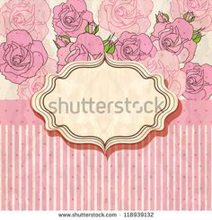 Stock Images similar to ID 90319528 - vintage text frame with roses ...