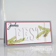Tannenzauber, Stampin' Up!, StampinClub, Eclipse Technik, Floating Letter Technik, Brushwork Alphabet, Tannenzauber, Christmas Pines