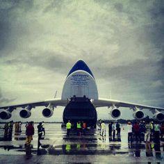 antonov 225 at mactan cebu international airport,
