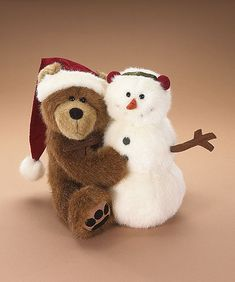 Bubba Santa with Frostie-Have these cutie on my corner hutch.