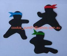 6 piece edible NINJA cake decoration TOPPER martial arts KARATE cupcake ICING in Cake | eBay