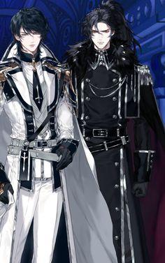 The swords of first light Anime W, Dark Anime Guys, Cool Anime Guys, Handsome Anime Guys, Anime Couples Manga, Anime Poses, Cute Anime Boy, Anime Demon, Anime Art Girl