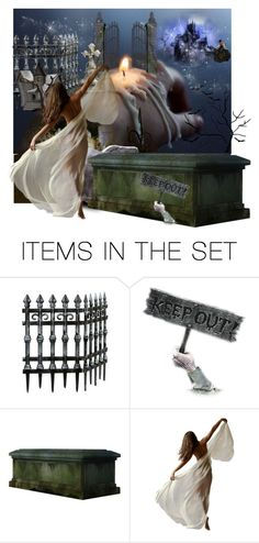 """Haunted Neighborhood Watch"" by mystic2awesome ❤ liked on Polyvore featuring art"
