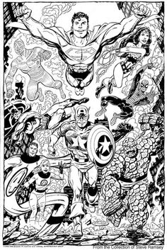 Marvel Meets DC - John Byrne (2006) If there were another creator worthy to eear Jack Kirby's crown, with his story-telling style and fresh look to the characters, and there were many iconic ones, it would be John Byrne. In my humble opinion.