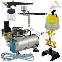 PROFI-AIRBRUSH SET mit Airbrush-Kompressor Compact II - Ideales AIRBRUSH Kit für…