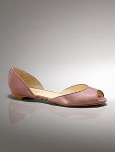 Talbots Patti Leather peep-toe D'Orsay flats