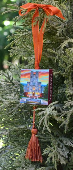 VIRGINIA TECH Ornament or Magnet / College by ArtistsHoliday