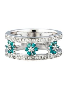 Diamond Ring w/ Flower Accents - Fine Jewelry - FJR21436   The RealReal