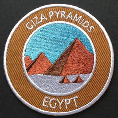 Giza Pyramids Egypt Embroidered Iron-on Patch Unesco Trekking Travel Badge Pharoh Applique Souvenir