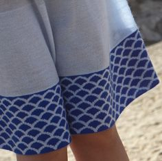 Such a gorgeous wave pattern on our 100% summer cashmere Ama skirt. LOVE!
