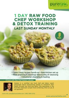 Our next 1 day intensive raw food & detox course is coming up Aug. 31st here in Ubud, Bali