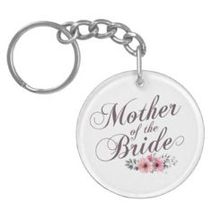 Mother of the Bride Elegant Wedding | Keychain - wedding party gifts equipment accessories ideas