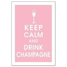 Keep Calm and Drink Champagne personnalisé boissons mat coaster