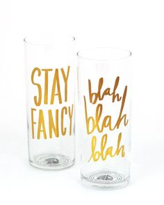For the Hostess: Gold Foil Cocktail Glasses from Artsy Modern