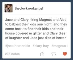 Mortal Instrument Series- Fan imaginings after the series ends.