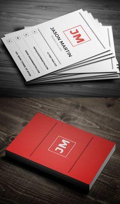 Minimal Red Business Card #businesscards #businesscardtemplates #custombusinesscards