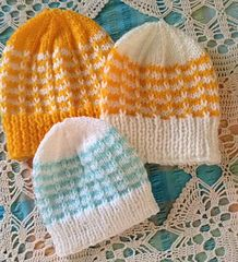 Ravelry: Duet Baby Hat pattern by marianna mel Baby Hat Patterns, Knitting Patterns Free, Free Knitting, Baby Hats Knitting, Knitted Hats, Crochet Winter Hats, Baby Beanies, Kids Hats, Knits