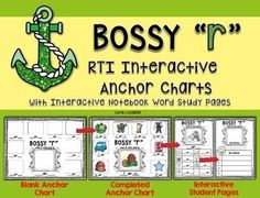 You'll love these smaller versions of anchor charts for teaching small group and RTI students.  Your students will stay engaged in the phonics lesson as they fill in a recording sheet that matches the anchor chart.  Next they try to think of their own words for the phonics rule that you just taught them.