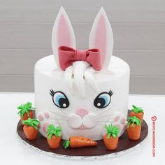 50 Bunny Cake Design (Cake Idea) - October 2019 The Effective Pictures We Offer You About Cake Design for girls A quality picture can tell you many things. You can find the most beautiful pictures tha Bunny Birthday Cake, Easter Bunny Cake, Easter Cupcakes, Fun Cupcakes, Birthday Cupcakes, Cupcake Cakes, Bunny Cakes, Cake Designs For Kids, Cake Designs Images