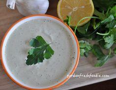 #Tahini Sauce: great for #vegandip for #falafel, salad, or veggies! www.gardenfreshfoodie.com