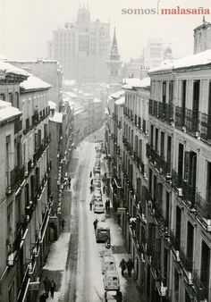 Madrid: Malasaña nevada, año 1963.