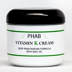 2oz  Vitamin K Cream  Thread Spider Varicose Veins Scars Rosacea Capillaries >>> To view further for this item, visit the image link.