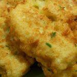 pataniscas de grao e bacalhau