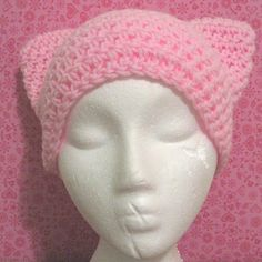 Baby pink kitty ear hat. $15