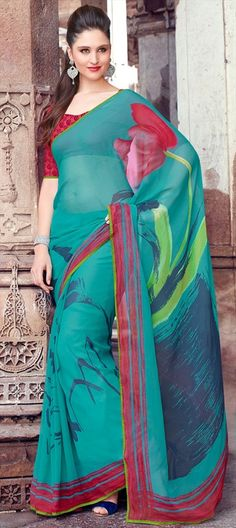 142368: Abstract arty prints on saree.  #prints #Winterfall2014 #painting #canvas #floral #sale