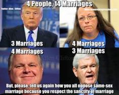Donald Trump, Kim Davis, Rush Limbaugh, Newt Gingrich