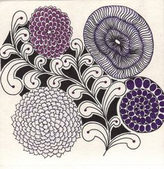 Cut'n It Up... And Sewing It Back Together!: zentangle