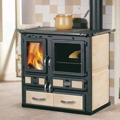 Sideros Desiree 860 Wood Cooker, i love this in Lava stone!