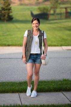 Spring Fashion Inspo: Utility Vest and Denim Shorts