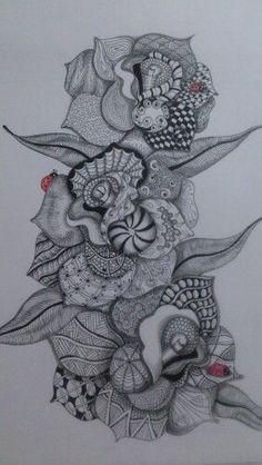 Zentangle Zentangle, Skull, Tattoos, Art, Art Background, Tatuajes, Zentangle Patterns, Tattoo, Kunst
