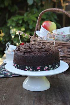 chocolate, beetroot and walnut cake