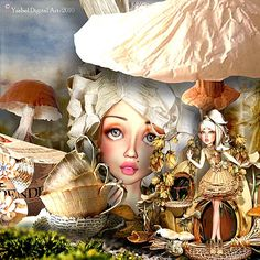 La bêtisse  © Ysabel  Digital Art-All Rights Reserved using for create my layout the product : Xquizart @ Mischief Circus.com : dolls and elements : Off The Page Collectibles background : Off The Page Papers 1 blending with photo of pixabay.com A digital image kit for your art, collage, mixed media art and scrapbooking. #photomanipulation #digital #art #scrapbook #collage #artjournaling #atc