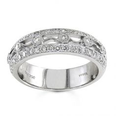 BF1333 - #23545  18 k, white diamond band 0.48 ct. rounds (Please call for pricing)