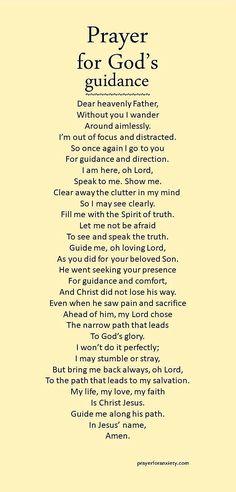 Prayer for God's guidance