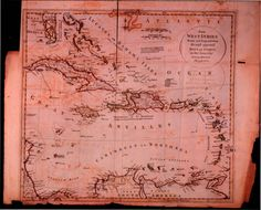 cartography 1700's west indie