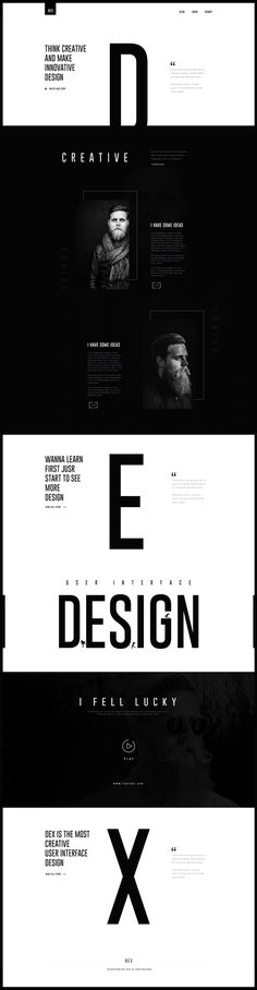 Website design from http://keithhoffart.weebly.com/contact.html Black on White Design Trend