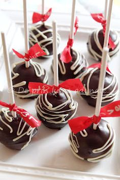 Chocolate raspberry cake pops