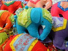 Chaveiros de elefantes indianos