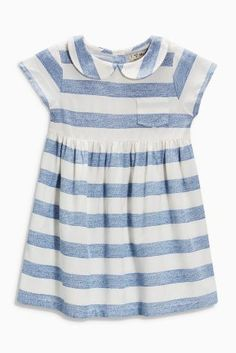 Buy Stripe Essential Dress from the Next UK online shop Kids Prom Dresses, Girls Easter Dresses, Girly Outfits, Kids Outfits, Moda Kids, Glamour, Stripe Print, New Dress, Look