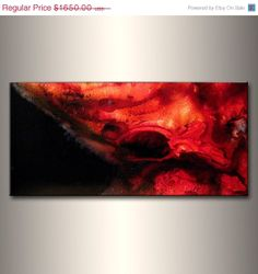 Abstract Painting Original Abstract painting by newwaveartgallery, $990.00