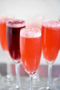 This Berry Champagne Punch is the perfect way to kick off New Year's Eve! This punch is super easy to prepare and is made with fresh berries and champagne or sparkling wine. Perfect for Easter brunch and Mother's Day too! // Mom On Timeout